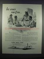 1946 Cuba Mail Line Ad - Ice Cubes for Cuba