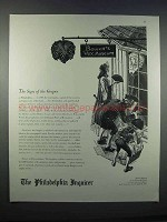 1946 The Philadelphia Inquirer Ad - Sign of the Grapes