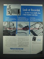 1946 Kodak Recordak Microfilm Ad - Look At