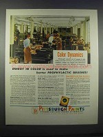 1946 Pittsburgh Paints Ad - Prophylactic Brushes