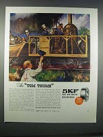 1946 SKF Ball and Roller Bearings Ad - The Tom Thumb