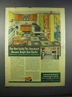 1946 Armstrong's Asphalt Tile Ad - Bright and Useful