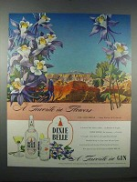 1946 Dixie Belle Gin Ad - Favorite Flowers - Columbine