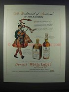 1946 Dewar's White Label and Victoria Vat Scotch Ad - Traditional