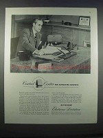 1946 Dictaphone Electronic Dictation Ad