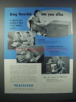 1946 Kodak Recordak Microfilm Ad - Bring Into Office