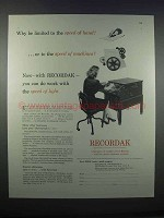 1946 Kodak Recordak Microfilm Ad - Speed of Hand
