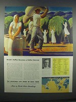 1946 National City Bank of New York Ad - Rockwell Kent - Brazil Coffee
