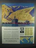 1946 National City Bank of New York Ad - Rockwell Kent