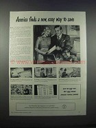 1946 U.S. Savings Bonds Ad - New, Easy Way to Save