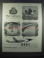1946 BOAC British Overseas Airways Corporation Ad