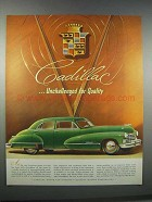 1946 Cadillac Car Ad - Unchallenged for Quality