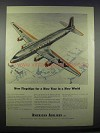 1945 American Airlines DC-6 Plane Ad - New Flagships