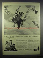 1944 American Gas Association Ad - Just Make A Wish