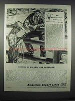 1944 American Export Lines Ad - One End of His Rope's