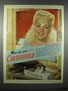 1944 Chesterfield Cigarettes Ad - Betty Grable