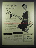 1944 Cannon Percale Sheets Ad - Girl Who Can Say No