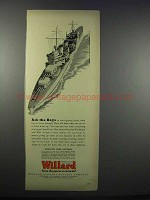 1943 Willard Storage Battery Ad - Ask The Boys