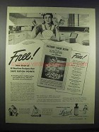 1943 Lysol Disinfectant Ad - Wartime Recipes