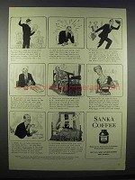 1943 Sanka Coffee Ad - Worrying About the War