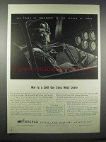 1943 Fairchild Training Planes Ad - War is A Skill