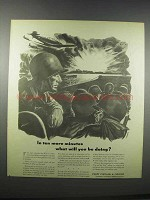 1943 WWII Every Civilian a Fighter Ad - art by Kenyon