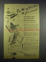 1943 Macy's Department Store Ad - Say Merry Christmas