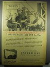 1942 United Gas Pipe Line Ad - All Out for War