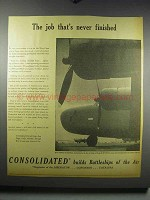 1942 Consolidated Aircraft C-87 Military Cargo Ad