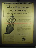 1942 Victory Fund Committee Ad - Answer to Your Country