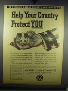 1942 Victory Fund Committee Ad - Help Country Protect
