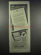 1942 Prince Gardner Registrar Billfold Ad - For Fathers