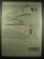 1939 Dunlop Tires Ad - Cartoon by George Price