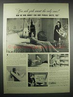 1939 Cannon Percale Sheets Ad - You Rich Girls