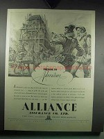 1939 Alliance Assurance Co. Ad - Prlude to Adventure
