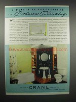 1938 Crane Bathroom Fixtures Ad - Wealth of Suggestions