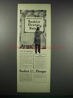 1938 Sunkist Valencia Oranges Ad - Today At Dealer's
