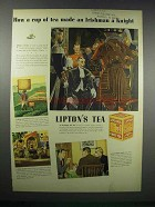 1938 Lipton's Tea Ad - Made an Irishman a Knight