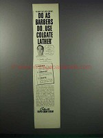 1938 Colgate Rapid-Shave Cream Ad - As Barbers Do