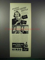 1938 Hinds Honey & Almond Cream Ad - Gives Extra