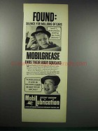 1938 Mobil Mobilgrease Ad - Found: Silence