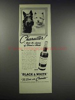 1938 Black & White Scotch Advertisement - Character!
