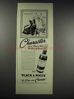 1938 Black & White Scotch Ad - Character!