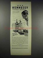 1938 Hennessy Cognac Ad - Hennessy and Soda