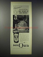 1938 Don Q Rum Ad - The Secret of Cool Drinks