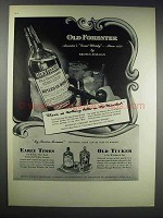 1938 Old Forester, Early Times & Old Tucker Whiskey Ad