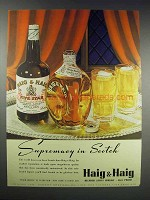 1938 Haig & Haig Scotch Ad - Supremacy