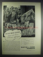 1938 Martini & Rossi Vermouth Ad - Put On These Glasses