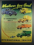 1938 International Harvester Truck Ad - You Haul