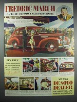 1938 DeSoto Cars Ad - Fredric March